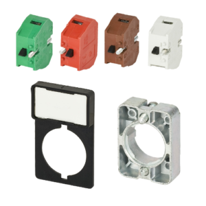 Contact blocks, LED units and support base
