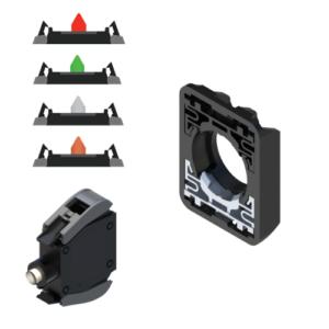 Bloki stykowe, źródła światła, adaptery