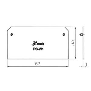 PS-W1 - płytka skrajna do ZUGW4-4 POKÓJ S.E.
