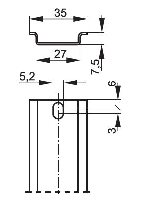 Wymiary listwy TS35