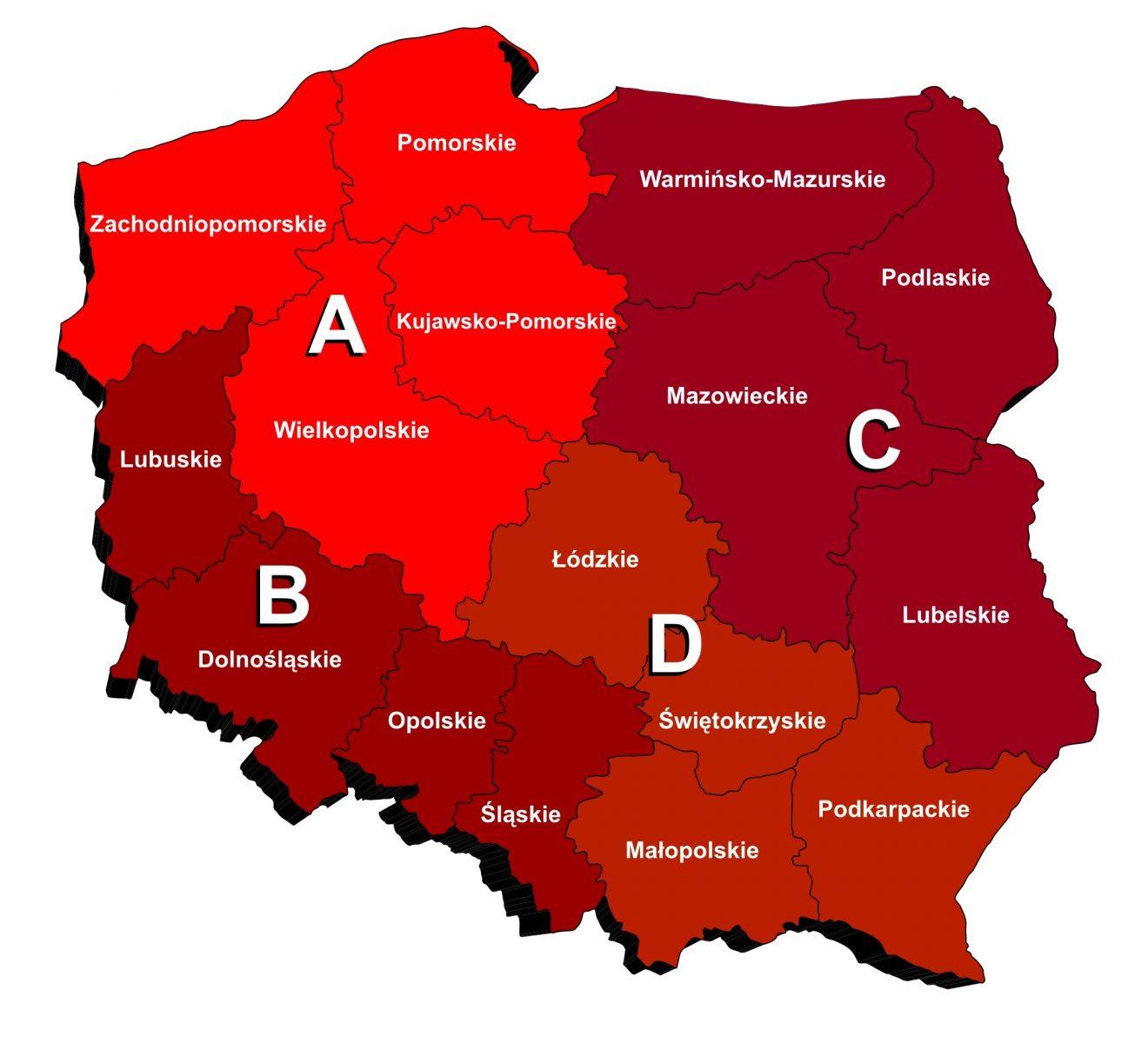 Regiony przedstawicieli - POKÓJ S.E.